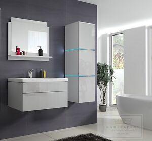 badm bel set lux 1 keramik badezimmerm bel wei hochglanz led beleuchtung ebay. Black Bedroom Furniture Sets. Home Design Ideas