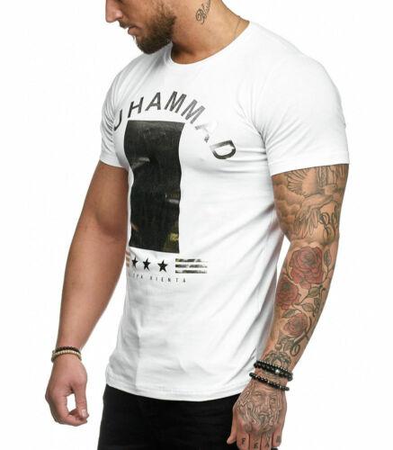 T-shirt fashion homme T-shirt 3288 blanc