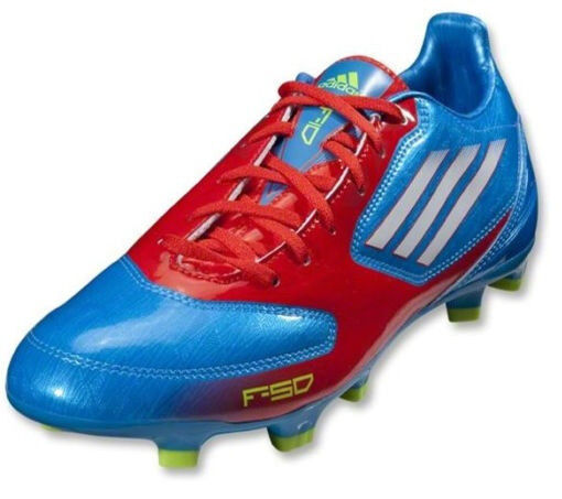 NEW Men's adidas F10 TRX FG Soccer Cleats Size 11 bluee White Core Energy