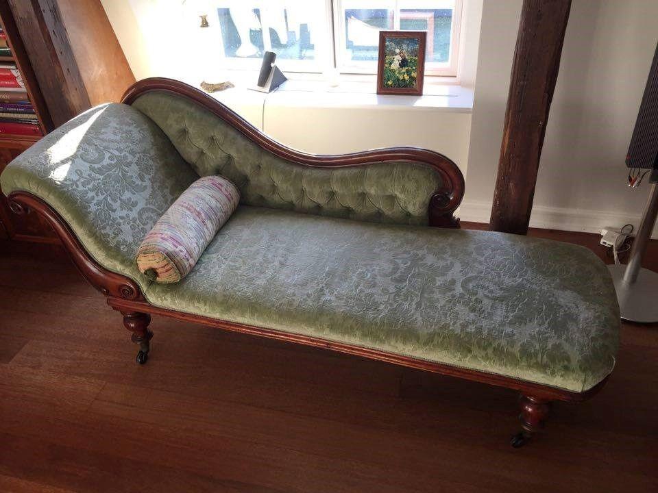 chaiselong velour 1 pers k b og salg af nyt og brugt. Black Bedroom Furniture Sets. Home Design Ideas