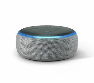 Amazon-Echo-Dot-3rd-Generation-Heather-Grey-Alexa-Voice-Smart-Home-Speaker