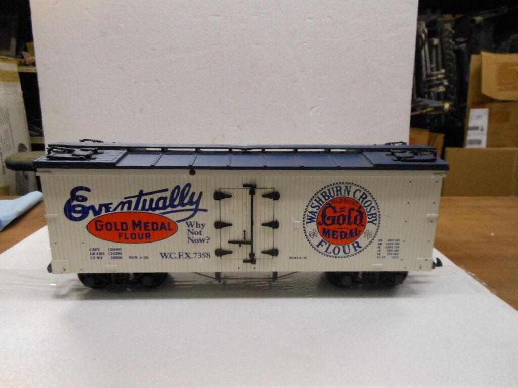 USA Trains G-Scale Gold Metal Flour Reefer Car R1660