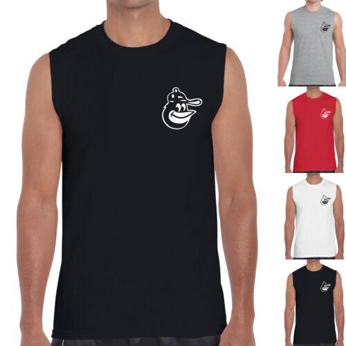 Baltimore Orioles Baseball Tank Top Sleeveless T-Shirt Plain Gym Jersey Tee 0097