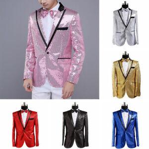 08288bfa9c1c Image is loading Mens-Sequin-Jacket-Suit-Blazer-Cabaret-Carnival-Fancy-