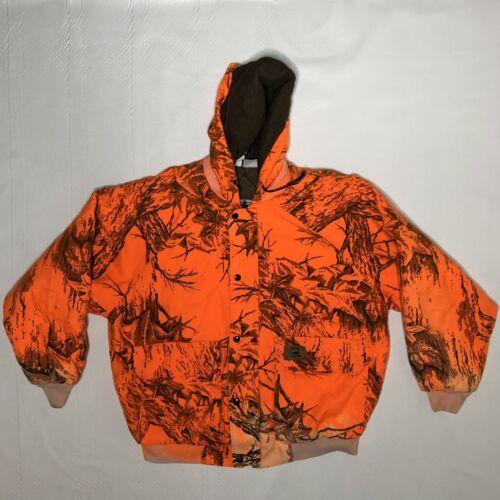 Destroyed VTG Duxbak Sun Faded Orange Camo Hunting