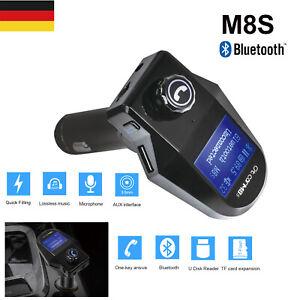 KFZ-Freisprechanlage-FM-Transmitter-Auto-Bluetooth-Radio-MP3-Player-2USB-Adapter