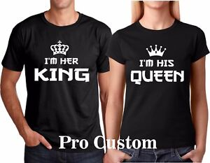 42ec83e11 I'M Her King I'm His Queen Couple matching funny cute T-Shirts S-5XL ...