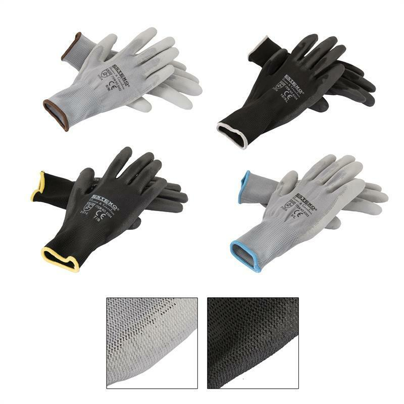 Montagehandschuhe EN 388 Arbeitshandschuh Mechanikerhandschuh Handschuh Nylon PU