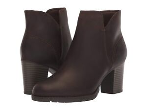 b273a81a Details about Women's Shoes Clarks VERONA TRISH Ankle Booties 37333 TAUPE  LEATHER *New*