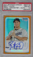 2011 Bowman Chrome Brett Lawrie Orange Auto Refractor Rookie RC /25 PSA 10 Mint