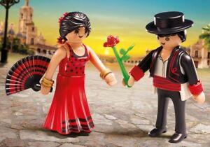 Playmobil-FamilyFun-Duo-Kit-Flamants-roses-Ref-6845-Danseurs-Chanteur-Musicien