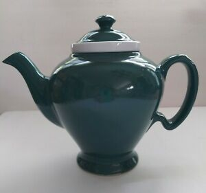 Vintage-3-Piece-McCormick-Green-Teapot-With-Infuser-amp-Lid-NICE-CONDITION