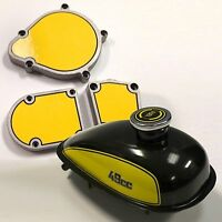 Motorized 2-stroke Bicycle Gas Tank & Engine Decal Detailing Mega Kit