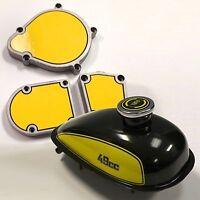 Motorized 2-stroke Bicycle Gas Tank & Engine Decal Detailing Mega Kit
