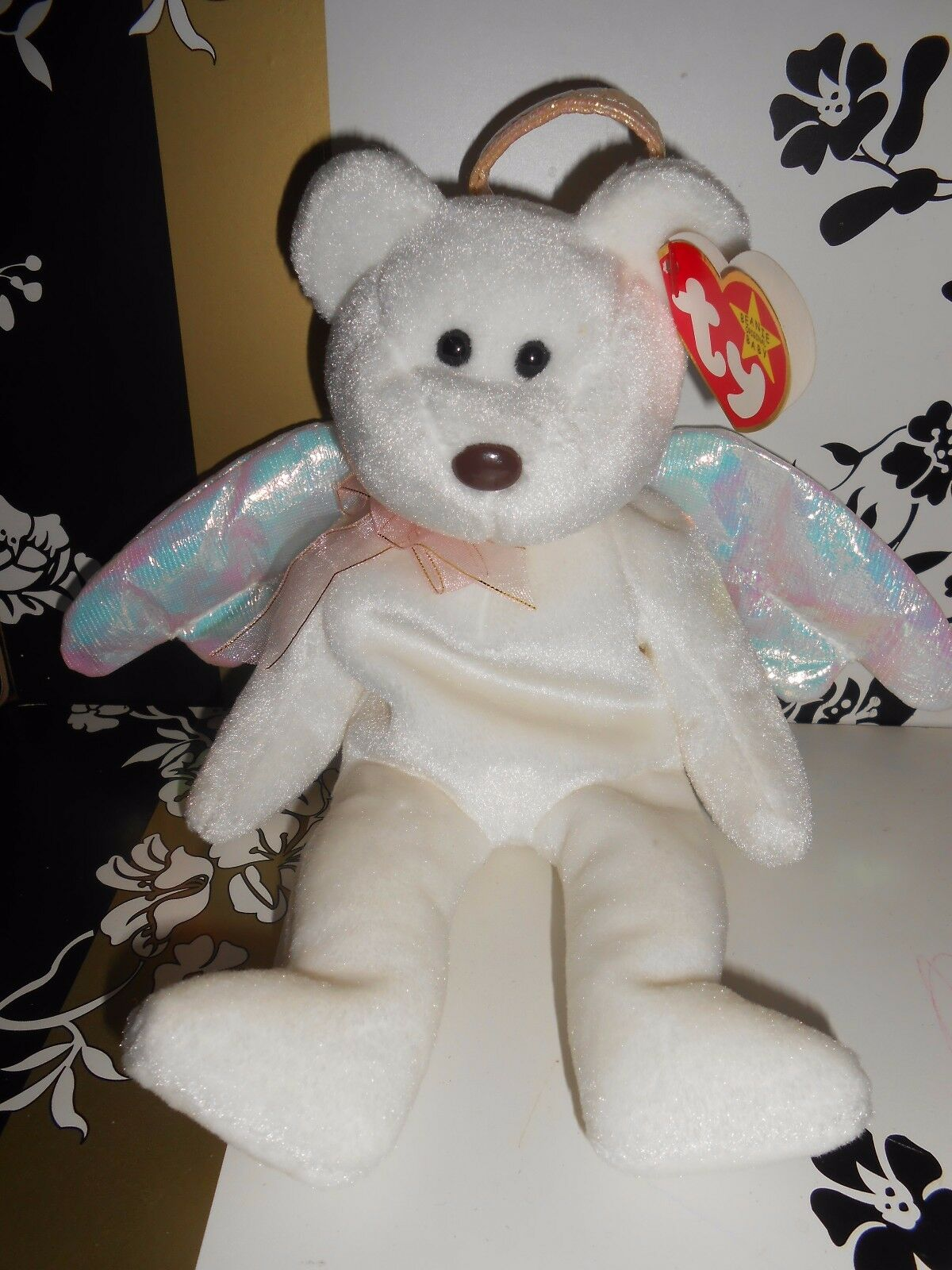 BEANIE BABIES COLLECTION BEAR EXCELLENT CONDITION WITH TAG THE HALO