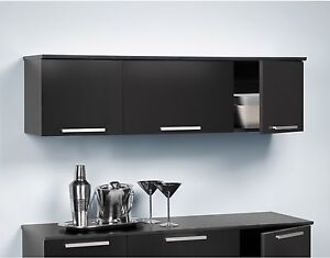 Image Is Loading Hutch Buffet Wall Mounted Cabinet Furniture Float Storage