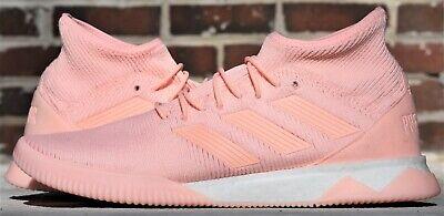 Details about New Adidas Predator Tango 18+ IN Indoor Soccer Shoes Turf Primeknit Pink Orange