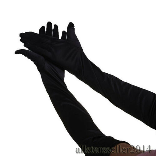 Fashion Elbow-length Gloves Wedding Evening Party Prom Costume Satin Gloves