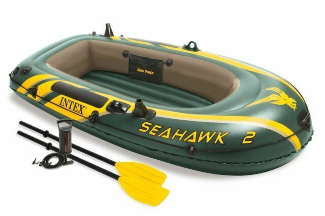 Intex Seahawk 2, 2-Person Inflatable Boat Set w/ French Oars