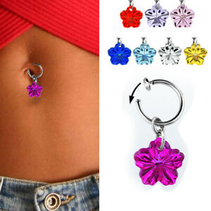 1 4pc Fake Belly On Clip Jewelry