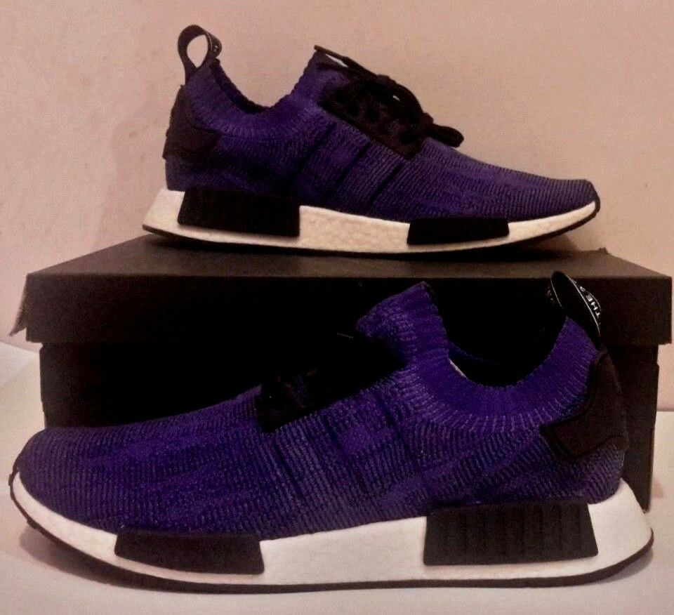 Adidas Nmd R1 Pk Size 11 Mens Energy Ink Cloud White Black Boost B37627 Purple