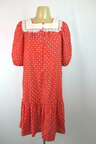 Vtg 70s HAWAIIAN Kaftan MuuMuu Sundress Dress Flor