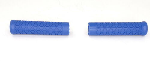 AME Old School BMX MTB Tri Flangeless Bicycle Grips BLUE *MADE IN USA*