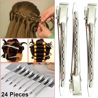 24x Clip Per Capelli Di Sezionamento In Metallo Set A Molle Una Forte Presa Clip Capelli Per Parrucchiere-mostra Il Titolo Originale
