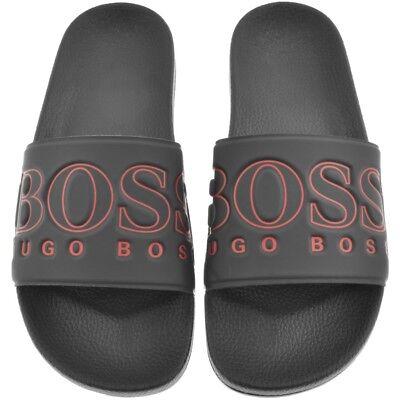 NWT Hugo Boss Green Label Solar Rubber Slide Sandals in Navy//Red