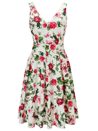 NEW ex Joe Browns IVORY Stand Out Floral Dress sizes 14 /& 18