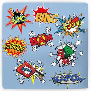 Retro Comic Vinyl Wall Sticker Super Hero Superman Pop
