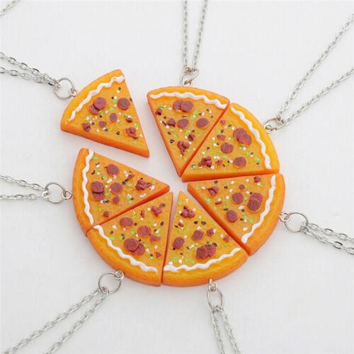 Pizza Anhänger Halsketten Männer Frauen Familie Freundschaft Schmuck ZP