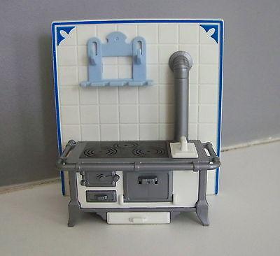 NOS CLASSIC/'S BY HANDLEY Miniature Coffee Stand w// 4 mugs BLUE Splatterware