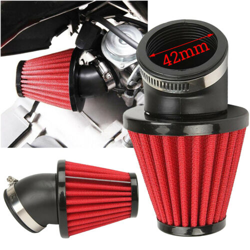 Motorcycle Air Intake Filter Inlet Pod Universal For Scooter ATV Red Accessories