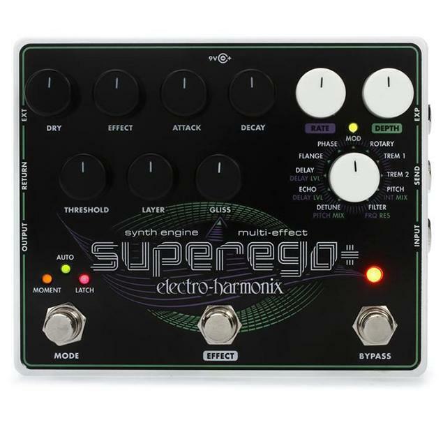 Electro Harmonix Superego Plus Synth Engine   Multi Effects Pedal