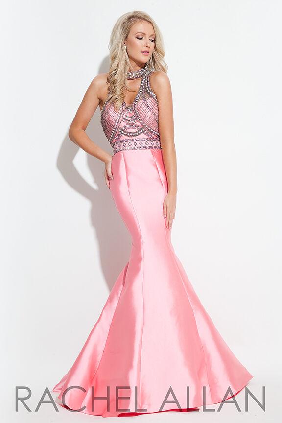Authentic Rachel Allen  7179 Dress--color  Coral--Size  12-Prom Dress