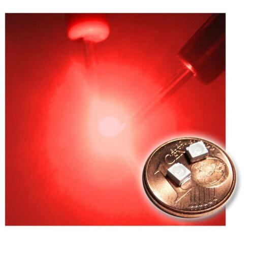 20 rote SMD LEDs PLCC2 3528 tief rot red rouge rojo rosso rood SMDs Led PLCC-2