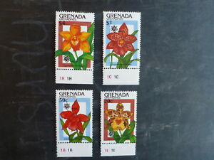 1990-GRENADA-GRENADINES-ORCHID-EXPO-SET-OF-4-ORCHID-MINT-STAMPS-MNH