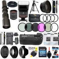 Nikon D7200 Hd Telescope Telephoto Zoom Lens 500-1000mm + 40pc Pro Accessory Kit