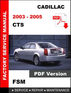 CADILLAC ESCALADE 2002 2003 2004 2005 2006 OEM SERVICE REPAIR FACTORY FSM MANUAL