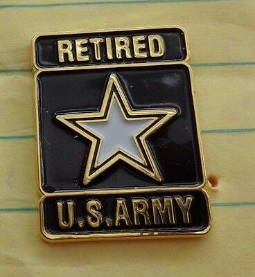 RETIRED U.S.ARMY STAR LAPEL PIN BADGE, FOR WEAR BY RETIREES ON CIVILIAN CLOTHES