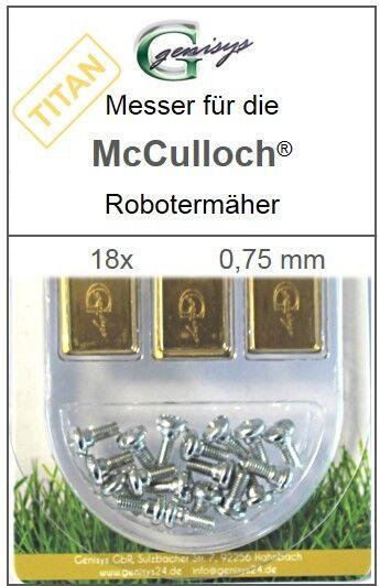 18 TITAN Ersatz - Messer Klingen 0,75mm für McCulloch Rob R600 R1000 Mc Culloch