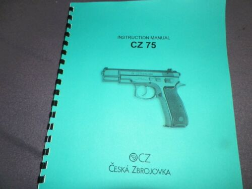 Manual 9MM  15 Pages CZ 75