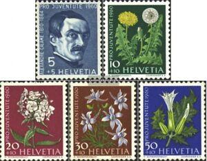 Schweiz-722-726-kompl-Ausgabe-postfrisch-1960-Pro-Juventute