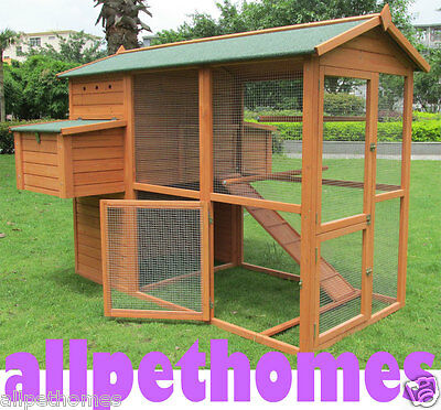 Chicken Coop Rabbit Hutch Guinea Pig Ferret Cage Hen Chook House Extra Large G5