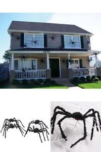 50 Riesen Gruselig Spinne Dekoration Halloween Hangende Dekoration Haus Haunted Outdoor Ebay