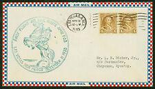 1933 FIRST FLIGHT AIR MAIL ROUTE AM 12 LAS VEGAS, NM TO CHEYENNE, WY (ESP#1567)
