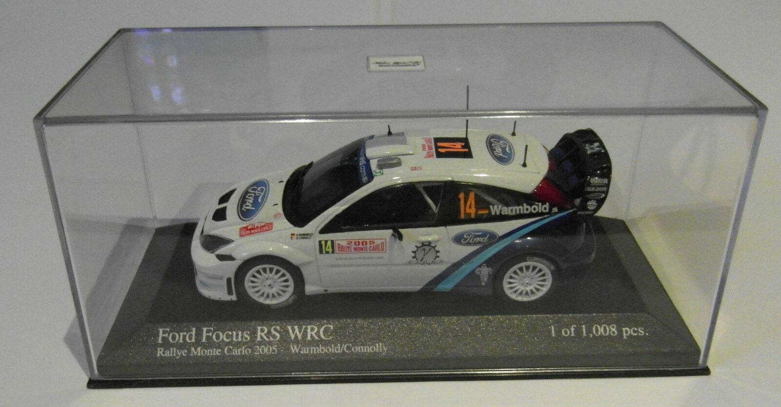 Minichamps 1 43rd Ford Focus RS WRC Rallye Monte Carlo 2005 Warmbold Connolly