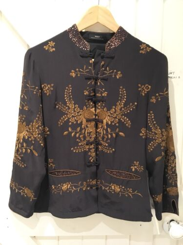 Night Designer amp; Jacket 10 Boho Berger Evening Scandinavia Size Mikkelsen Silk 4qInxdE0