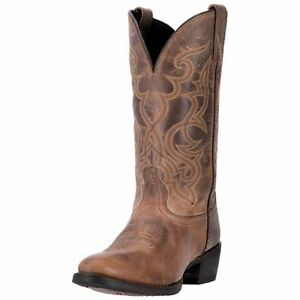 "Laredo Western Boots Womens 11"" Maddie R Toe Leather Brown 51112"